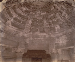 Close view of portion of the domed ceiling of the Adinatha Temple (Vimala Vasahi), Abu